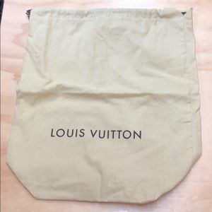 Louis Vuitton dust bag with drawstring